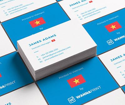 Carte De Visite Imprimee Et Livree Au Vietnam